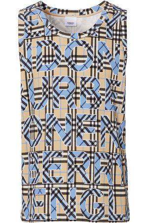 Burberry Checked logo-print vest