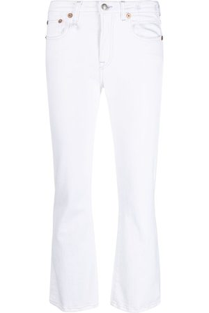 R13 Flared cropped jeans