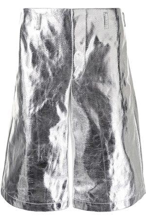 Comme des Garçons High-shine metallic shorts