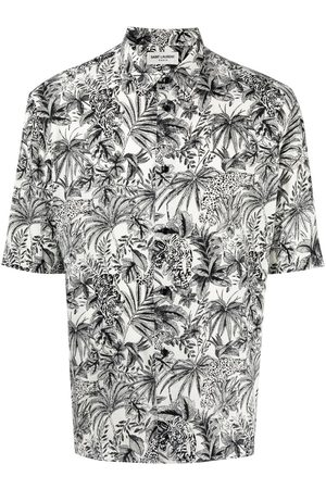 Saint Laurent Leaf-print short-sleeve shirt