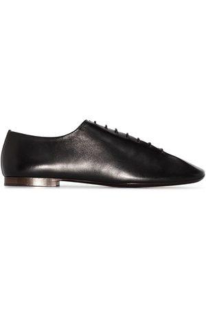 LEMAIRE Square-toe lace-up shoes