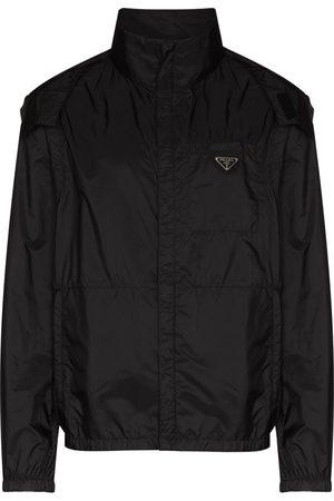 Prada Triangle-logo detachable-sleeve jacket