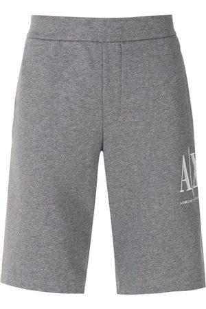 Armani Muži Kraťasy - Logo-embroidered track shorts