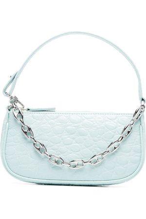 By Far Rachel croc-embossed leather bag
