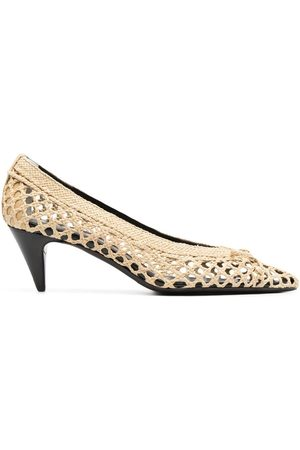 Saint Laurent Raffia pointed pumps