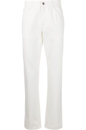 Salvatore Ferragamo Straight-leg logo patch jeans