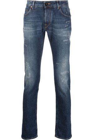 Hand Picked Mid-rise straight-leg jeans