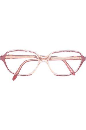 Yves Saint Laurent Marbled frame glasses