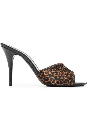 Saint Laurent Leopard print slip-on mules