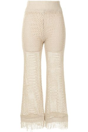 Muller Of Yoshiokubo Wide-leg fringed trousers