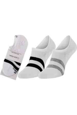 Calvin Klein Muži Ponožky - Pánské bílé ponožky 2 pack