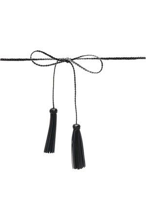 RED(V) Woven tassel-detail belt
