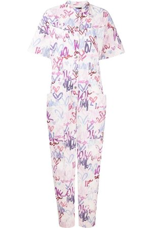 Isabel Marant Graphic-print linen-blend jumpsuit