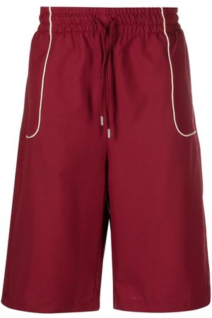 Drôle de Monsieur Contrast-trim shorts