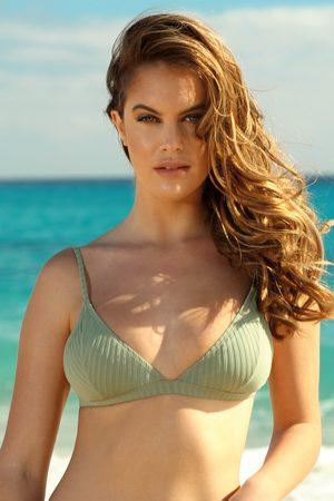 Cotton On Ženy Dvoudílné plavky - Horní díl dámských plavek Khaki triangle
