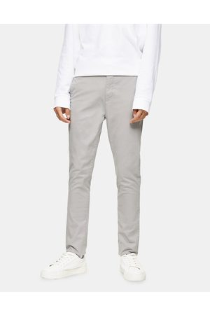 Topman Stretch skinny chinos in light grey