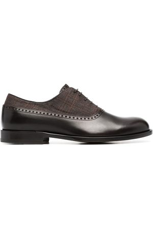 Scarosso Plaid-check panel shoes