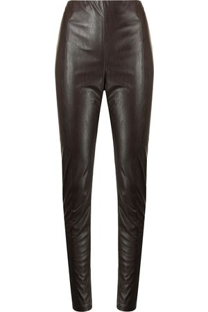 MANNING CARTELL Ženy Legíny - Faux-leather tonal-stitching leggings