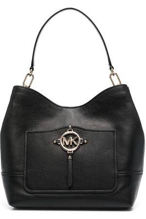 Michael Kors Amy large pebbled leather shoulder bag
