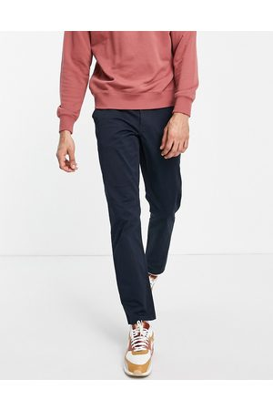 New Look Muži Chino - Slim chino trousers in navy