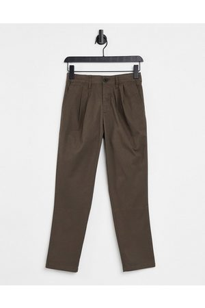 ASOS Muži Chino - Cigarette fit ankle grazer chino trousers in brown