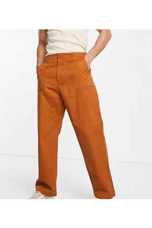 Collusion Muži Chino - Straight leg utility trousers in rust-Neutral