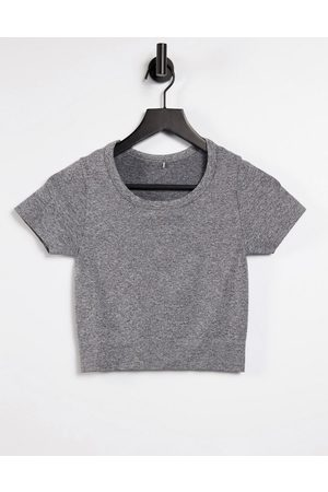 ASOS Ženy Kraťasy - Yoga seamless short sleeve top-Grey