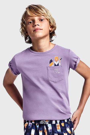 Mayoral Moda Infantil, S:A.U. Chlapecké tričko Mayoral Grape fialové
