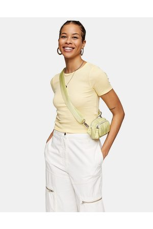 Topshop Everyday t-shirt in yellow-Brown