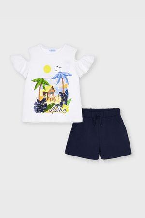 Mayoral Moda Infantil, S:A.U. SET dívčího trička a šortek Mayoral Aloha