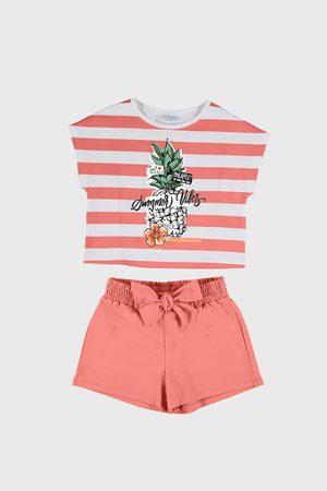 Mayoral Moda Infantil, S:A.U. SET dívčího trička a šortek Mayoral Summer Vibes