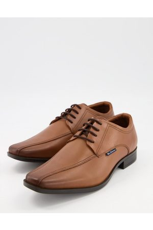 Ben Sherman Muži Do práce - Smart derby leather lace up shoes in tan-Brown