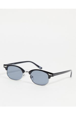 ASOS Mid retro sunglasses in black with smoke lens