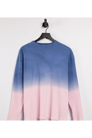 COLLUSION Unisex oversized long sleeve rib t-shirt in ombre-Multi