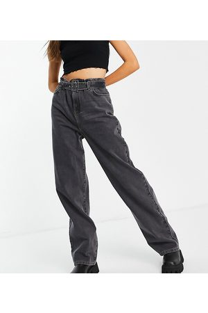 COLLUSION X014 90s baggy dad jeans with belted waist in black
