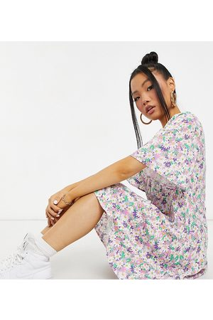 Y.A.S Petite Y.A.S. Petite v-neck floral mini dress in multi
