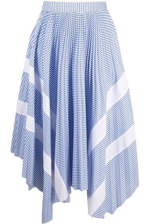 Palm Angels Pinstriped asymmetric skirt