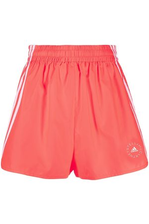 adidas by Stella McCartney Logo-print high-waisted running shorts