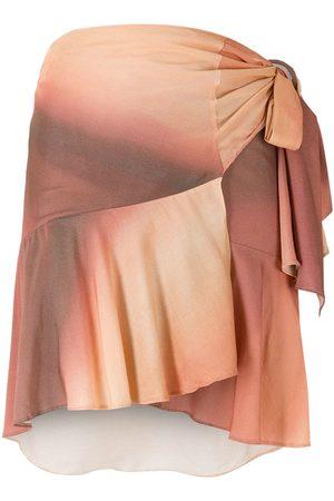 Amir Slama Paneled gradient wrap skirt