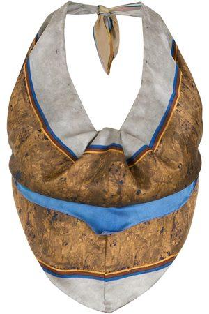 Amir Slama Silk halter neck blouse