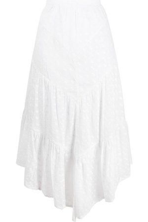 Isabel Marant Étoile Embroidered tiered midi skirt