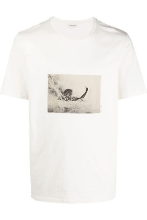 Saint Laurent Graphic-print cotton T-shirt