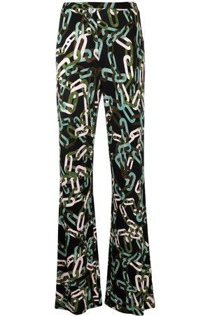 DVF Diane von Furstenberg Caspian flared trousers