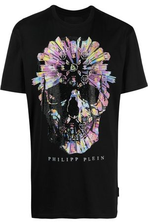 Philipp Plein Skull-appliqué T-shirt