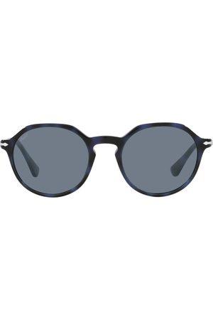 Persol Tortoiseshell-effect round-frame sunglasses