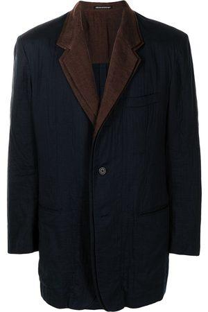 Yohji Yamamoto Pre-Owned Contrasting lapels blazer