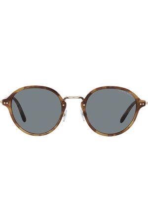 Giorgio Armani Tortoiseshell-effect round-frame sunglasses