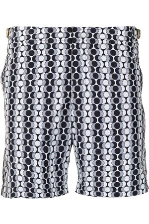 Orlebar Brown Bulldog geometric-print swim shorts