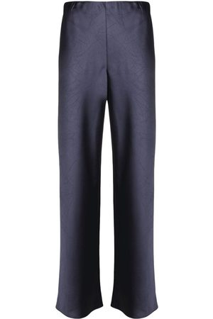 Vince Satin-finish flared trousers