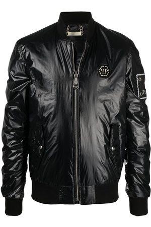 Philipp Plein Logo-patch bomber jacket